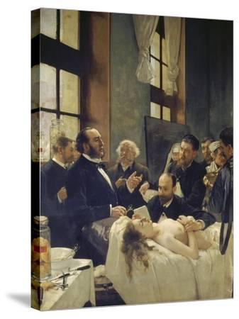 Before the Operation, or Doctor Pean Teaching at Saint-Louis Hospital, 1887-Henri Gervex-Stretched Canvas Print