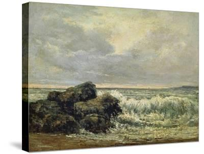 The Wave, Um 1870-Gustave Courbet-Stretched Canvas Print