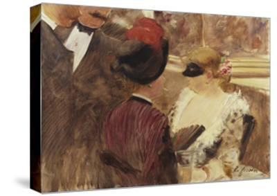 The Loge-Jean Louis Forain-Stretched Canvas Print