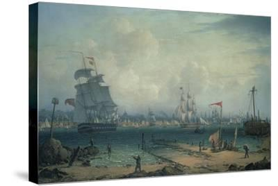 View of Liverpool, from Cheshire-Robert Salmon-Stretched Canvas Print