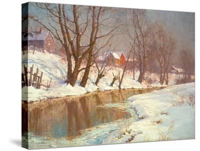Winter Morning at a Stream-Walter Launt Palmer-Stretched Canvas Print