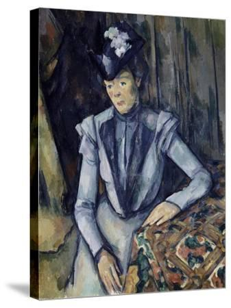 Lady in Blue, 1898-99-Paul C?zanne-Stretched Canvas Print