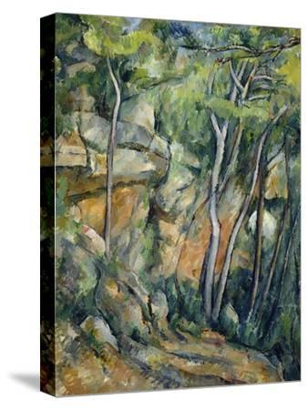 In the Park of Chateau Noir-Paul C?zanne-Stretched Canvas Print
