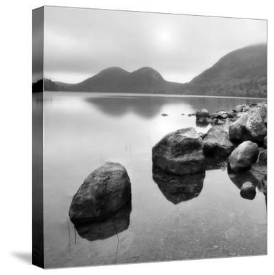 Silent Lake--Stretched Canvas Print
