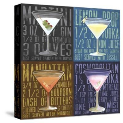 Martini 4-Up-Cory Steffen-Stretched Canvas Print
