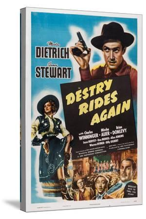 Destry Rides Again, 1939--Stretched Canvas Print