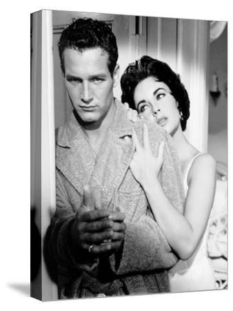 Cat on a Hot Tin Roof, Paul Newman, Elizabeth Taylor, 1958--Stretched Canvas Print
