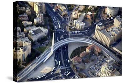 Air View of the Calatrava Bridge.-Stefano Amantini-Stretched Canvas Print