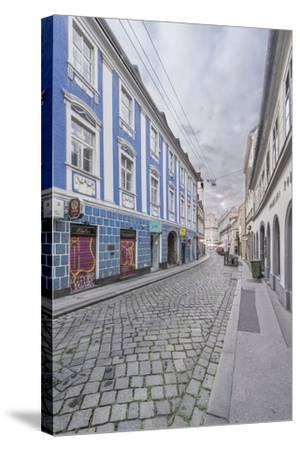 Lower Town Street-Rob Tilley-Stretched Canvas Print