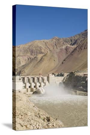Alchi, the Dam along Indus River-Guido Cozzi-Stretched Canvas Print