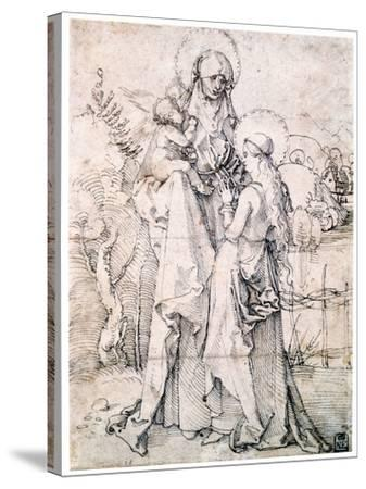 Saint Anne with Child and Virgin Mary, C1500-Albrecht Durer-Stretched Canvas Print