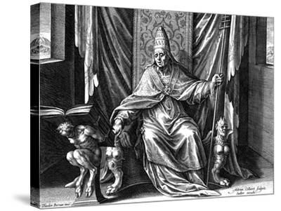 Pope Gregory I, the Great, C1540-1567-Adriaen Collaert-Stretched Canvas Print
