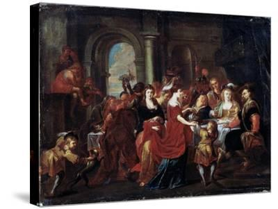 The Feast of Herod, 17th Century-Abraham Jansz van Diepenbeeck-Stretched Canvas Print