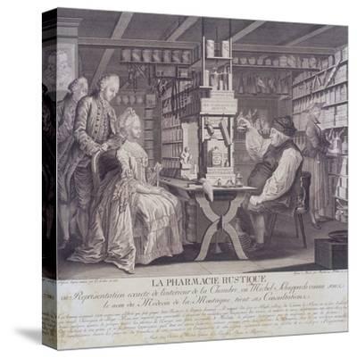 La Pharmacie Rustique, C1775-Barthelemi Hubner-Stretched Canvas Print