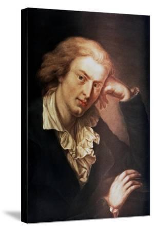 Johann Christoph Friedrich Von Schiller, German Poet, Dramatist and Historian, C1785-Anton Graff-Stretched Canvas Print
