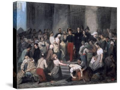 The Duke of Orleans ..During the Cholera Epidemic, C1830-Alfred Johannot-Stretched Canvas Print