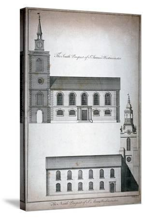 Two 17th Century London Churches, C1750-Benjamin Cole-Stretched Canvas Print