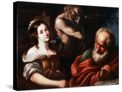 Allegory of Mathematics, Early 17th Century-Bernardo Strozzi-Stretched Canvas Print