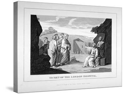 Ticket for the London Hospital Showing Christ and the Disciples, C1825-Charles Grignion-Stretched Canvas Print