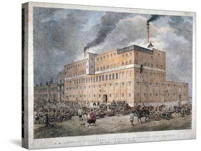 Westminster Ale and Porter Brewery on Horseferry Road, London, C1840-C Warren-Stretched Canvas Print
