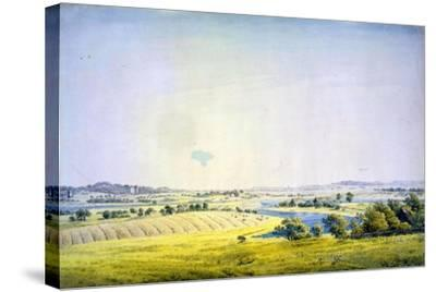 View over Putbus, 1824-1825-Caspar David Friedrich-Stretched Canvas Print