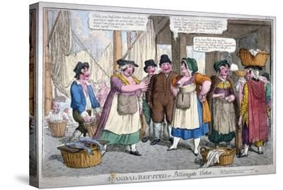 Scandal Refuted, or Billingsgate Virtue, 1818-C Williams-Stretched Canvas Print