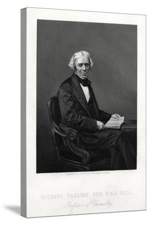 Michael Faraday, British Scientist, C1880-DJ Pound-Stretched Canvas Print