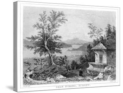 Near Woking, Surrey, 19th Century- Chavan-Stretched Canvas Print