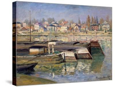 Seine at Asnieres, 1873-Claude Monet-Stretched Canvas Print