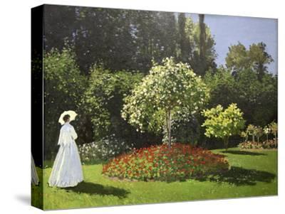 Lady in the Garden, 1867-Claude Monet-Stretched Canvas Print