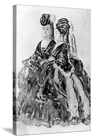 Two Ladies-Constantin Guys-Stretched Canvas Print