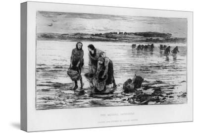 The Mussel Gatherers, C1890-Colin Hunter-Stretched Canvas Print