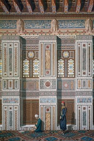 Main Room, Mosque of Ahmed El-Bordeyny, 19th Century-Emile Prisse d'Avennes-Stretched Canvas Print