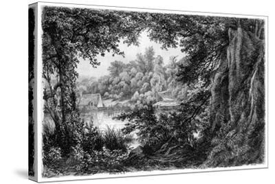 La Chaumiere, C1825-1885-Eugene Blery-Stretched Canvas Print