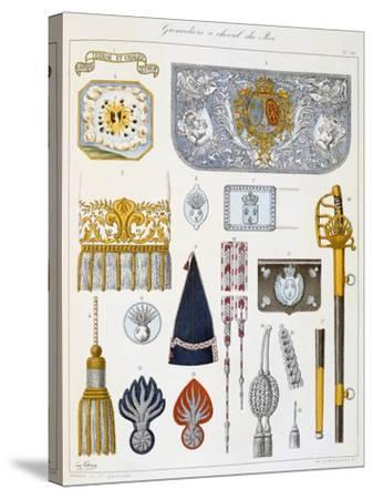 Grenadiers À Cheval Du Roi, Insignia-Eugene Titeux-Stretched Canvas Print