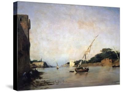 View of the Nile, 19th Century-Eugene Fromentin-Stretched Canvas Print