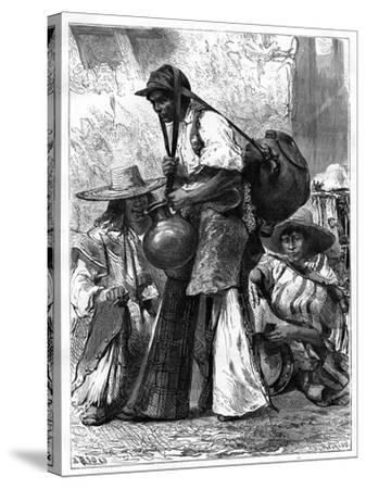 Water Vendor, Mexico, 19th Century-Edouard Riou-Stretched Canvas Print
