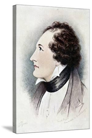 Lord Byron, Anglo-Scottish Poet, Early 19th Century-Ernest Lloyd-Stretched Canvas Print