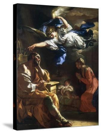 St Joseph's Dream, C1677-1747-Francesco Solimena-Stretched Canvas Print