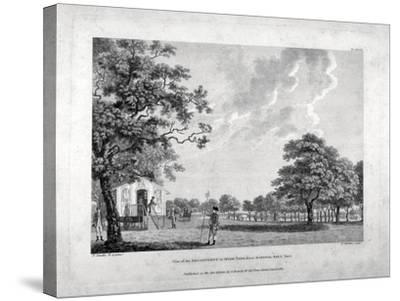 Army Camp in Hyde Park, London, 1780-Francis Chesham-Stretched Canvas Print