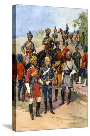 The King's Own Regiments of the Indian Army-Frederic De Haenen-Stretched Canvas Print