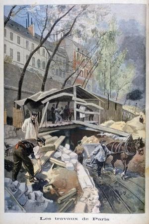 Labour in Paris, 1899-F Meaulle-Stretched Canvas Print