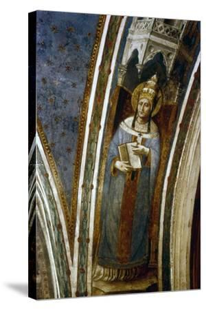 St Gregory, Mid 15th Century-Fra Angelico-Stretched Canvas Print