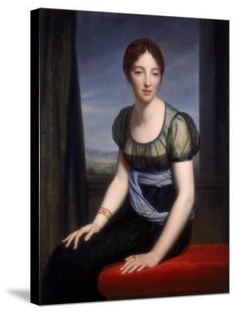 Portrait of Madame Regnault De Saint-Jean D'Angely, 1798-Francois Pascal Simon Gerard-Stretched Canvas Print