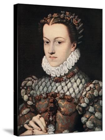 Princess Elizabeth of Austria, C1571-Francois Clouet-Stretched Canvas Print