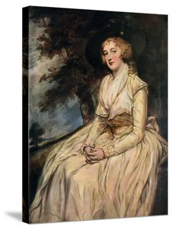 Charlotte, Lady Milnes 18th Century-George Romney-Stretched Canvas Print