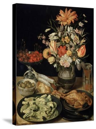Still Life with Flowers and Snack, C1630-C1635-Georg Flegel-Stretched Canvas Print