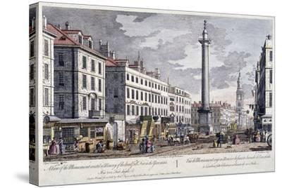 Monument, London, 1794-George Bickham-Stretched Canvas Print