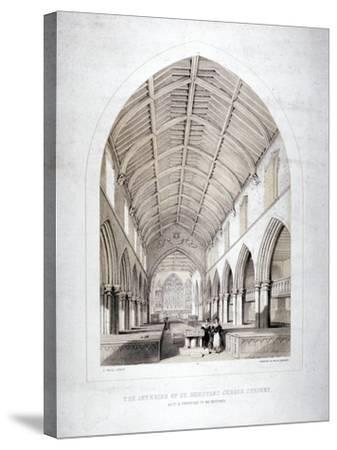 Church of St Dunstan, Stepney, London, 1846-George Childs-Stretched Canvas Print