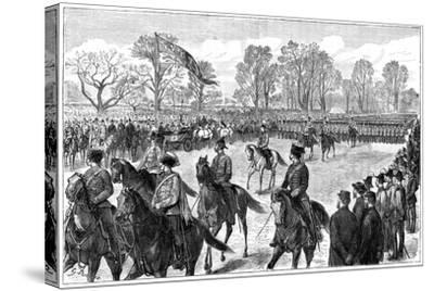 Review in Windsor Great Park of the Troops from the Ashanti War, 1900-G Durand-Stretched Canvas Print
